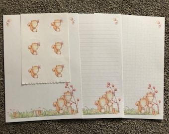 Eichhörnchen 25 Blatt Briefpapier schreiben & 6 Aufkleber-set