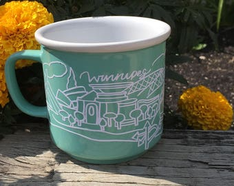 Winnipeg mug! Hand designed and drawn, beautiful mug.