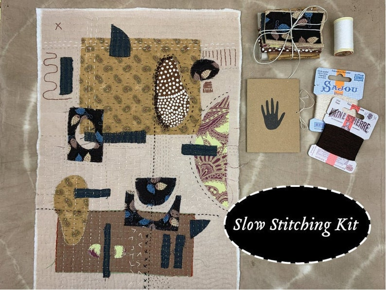 Slow Stitching Kit  Hand sewing embroidery and inspiration image 0