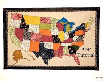 Us map pattern | Etsy