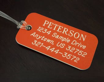 Engraved Luggage Tag, Personalized Luggage Tag, Custom Luggage Tags, Gift for Traveler, Personalized Backpack Tag, Luggage Tags Personalized