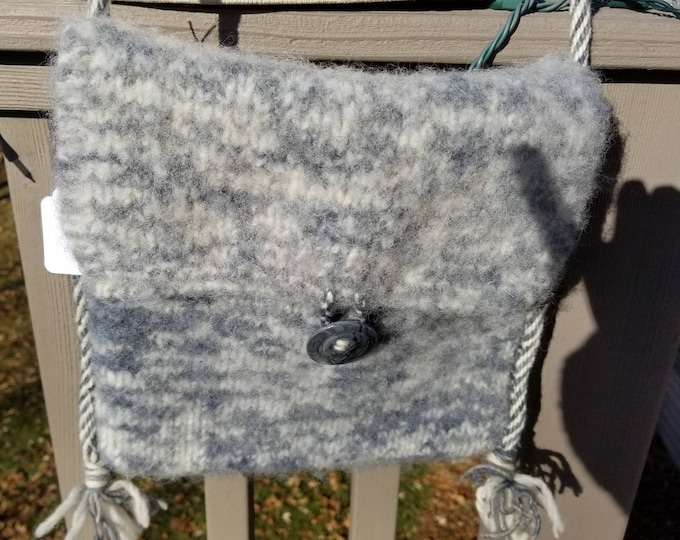 Knitted Felted Wool Purse