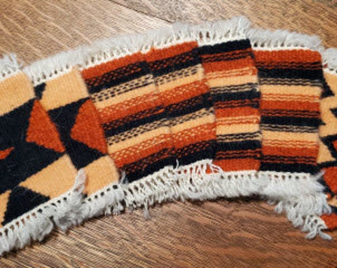 Weft-Faced Wool Coasters