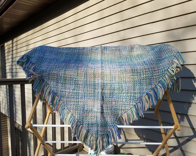 Woman's Pastel colored Woven Acrylic  Shawl