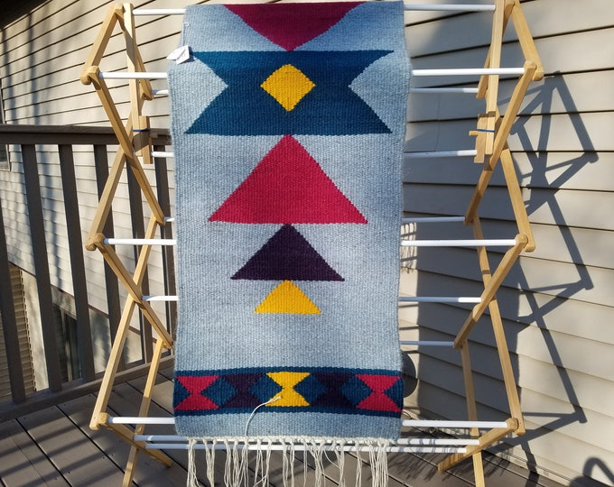 Geometric Jewel toned Wool Runner
