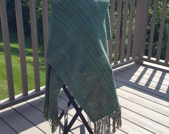 Green Striped Wrap