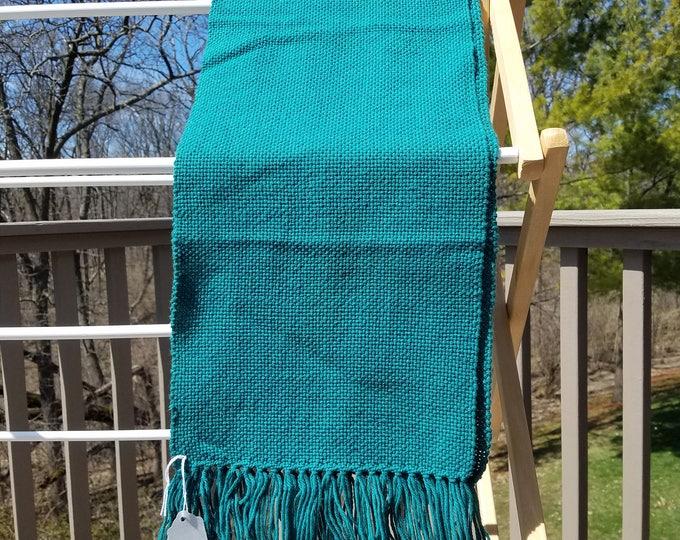 Green Woven Wool Scarf
