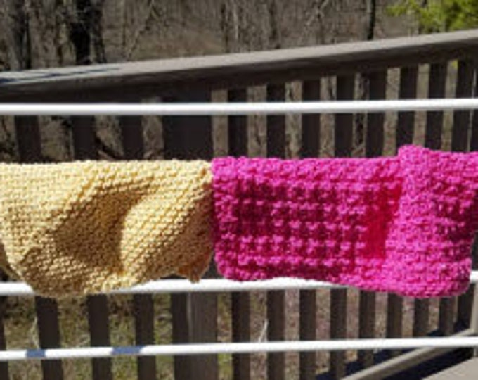 Knitted Cotton Dish Rags