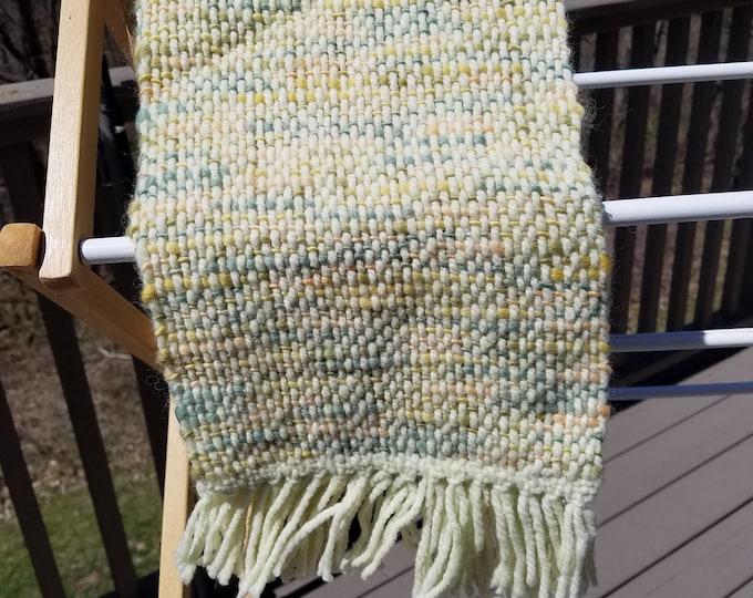 Bright Yellow Murino Wool Scarf