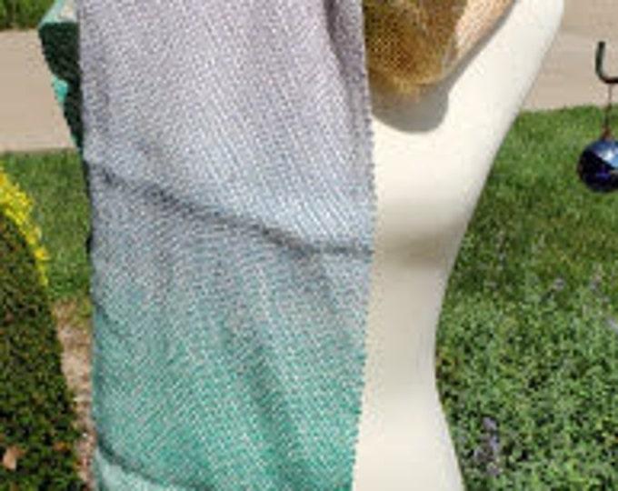 Pastel Rainbow Variegated Wool Scarf