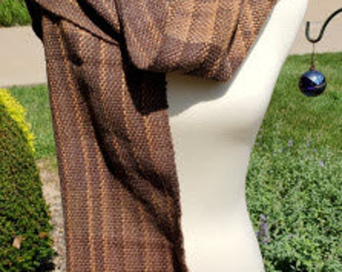 Brown Variegated Acrylic Scarf
