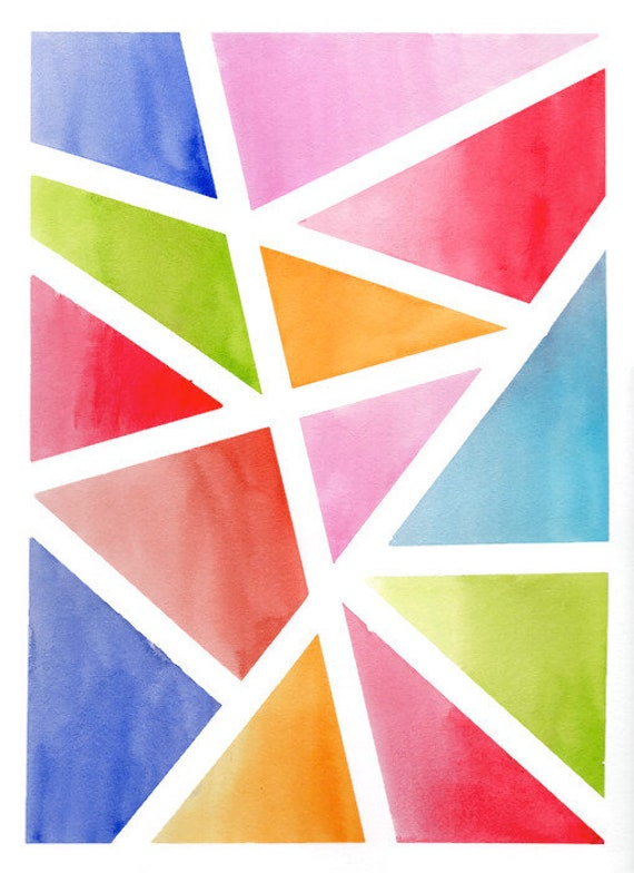 Geometrical Wall Art Geometry Art Geometrical Painting Triangles Wall Art Geometrical Drawing Geometric Abstract Painting