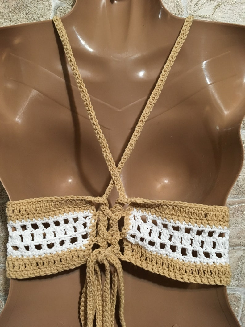 Aqua Crochet Bra Crochet Bikini Top Boho Tank Top for Women Festival Clothing