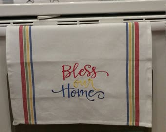 Bless our Home Embroidered Kitchen Towel