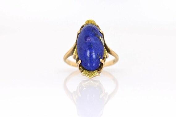 Vintage 1950s Lapis Lazuli & Gold Ring