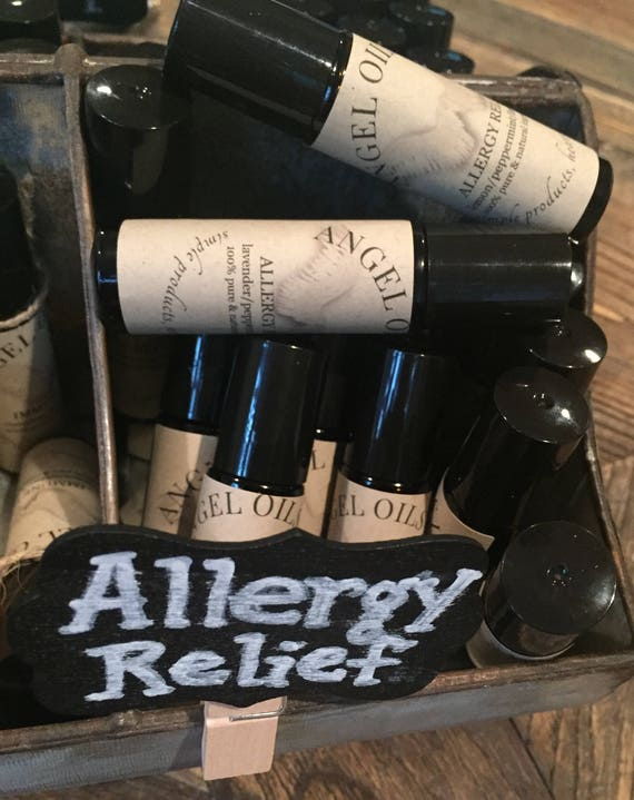 ALLERGY RELIEF-rollerball with pure and natural peppermint/lemon/lavender