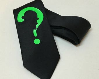 Question Mark Necktie, Cool, Unique and Fun, Birthday Gift, Wedding, Christmas, Father's Day, Valentine's