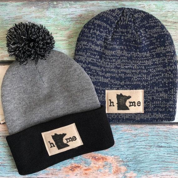 4541e3363e8 ... inexpensive mn state pride hat minnesota beanie hat hat with pom pom  etsy 2ed40 7afa0