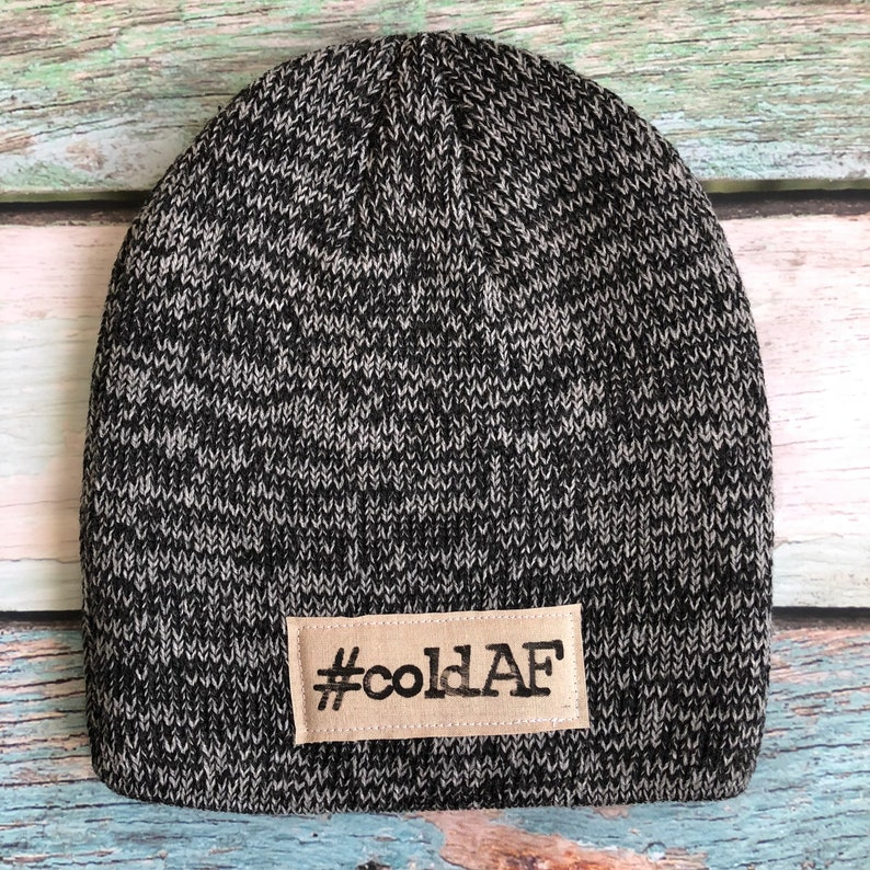 16c5a85d090 ColdAF™ Stamped Winter Hat Beanie Pom Hat Funny Hat Warm