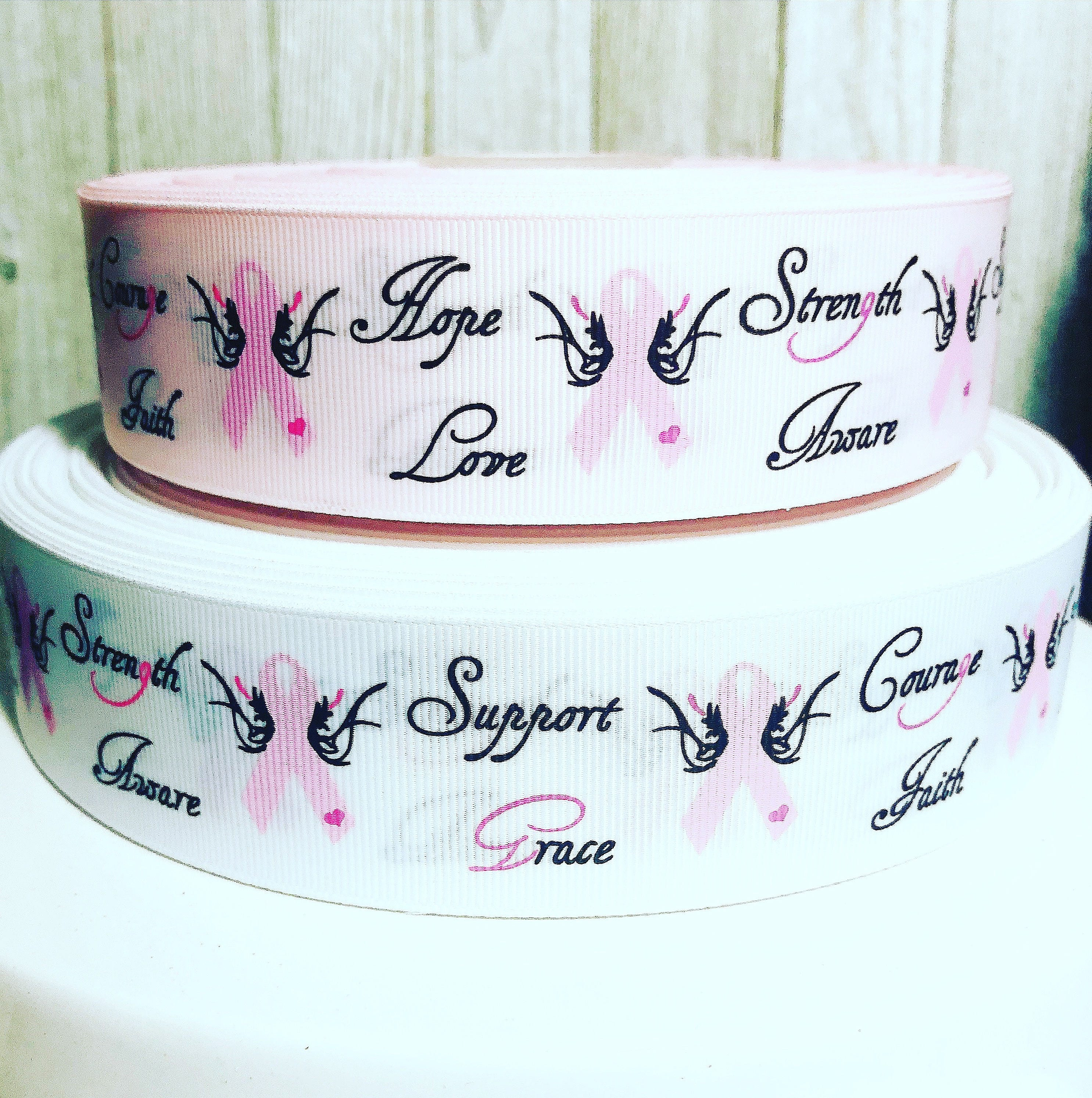 Usdr 15 Breast Cancer Awareness Strength Support Pink White Etsy Hoshi Cream Zoom