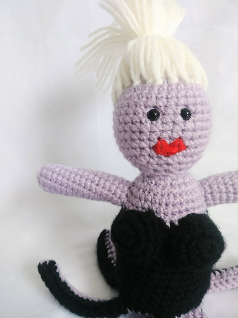 Handmade Crochet Ursula Inspired Doll - Amigurumi Disney Little ... | 1059x794