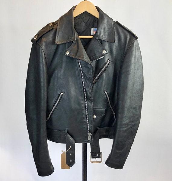 Schott Bros (USA) Leather Motorcycle Jacket Hand V