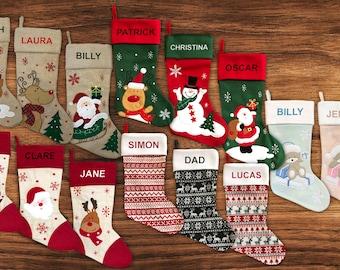 Personalised Christmas Stocking - 14 Designs