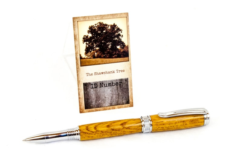 Shawshank Redemption Tree Rollerball Pen in Chrome-Plated image 0