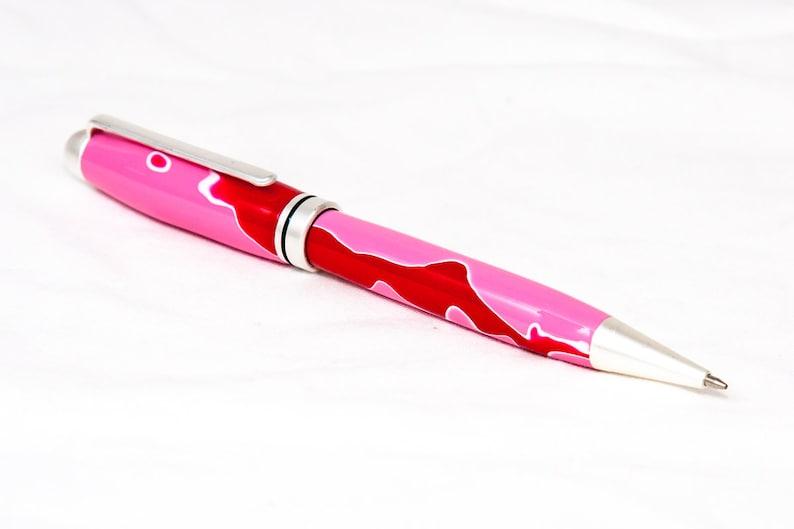 Pink Wave Resin European-Style Pen image 0