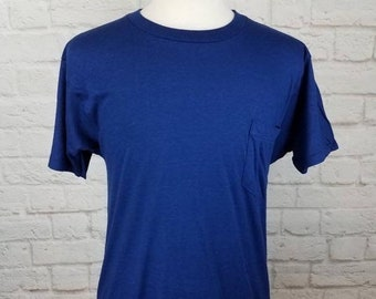 abec189b New Year SALE 15% Off Vintage 90's Original Jockey Blank Pocket T-Shirt