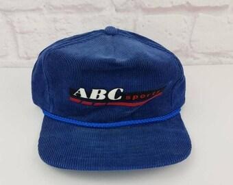 782a5cbfd008b New Year SALE 15% Off RARE Vintage 80's Original ABC Sports Corduroy  Snapback Hat.