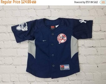 8963c7704 New Year SALE 15% Off Vintage 90 s New York Yankees Baseball Jersey By  Nike. Size 3T.