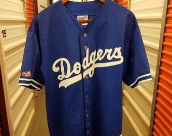 New Year SALE 15% Off Vintage 90 s Original Authentic Los Angeles Dodgers  Sewn Baseball Jersey By Majestic Diamond Collection. Men s Size XL fbe801b2635