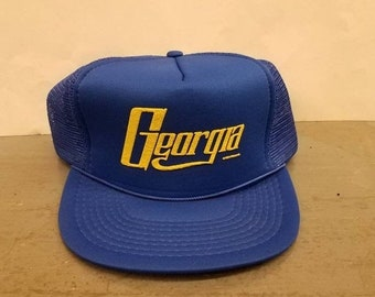 New Year SALE 15% Off Vintage Original 1983 Georgia Mesh Trucker Snapback  Hat. 4f08abe8880