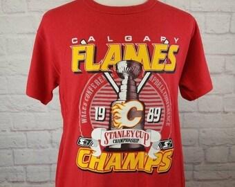 best website e624b 0f3d0 Calgary flames shirt | Etsy