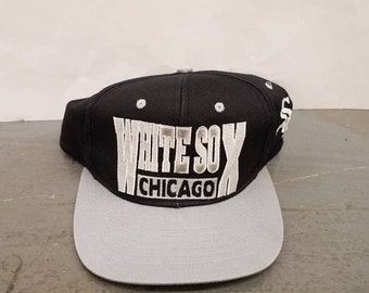 c37b42b7b3c New Year SALE 15% Off Vintage 1990 s Original MLB Chicago White Sox  Snapback Hat.
