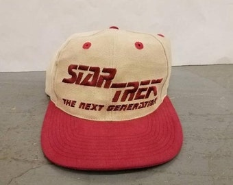 3ae70d6e631 New Year SALE 15% Off Vintage 90 s Star Trek The Next Generation Snapback  Hat.