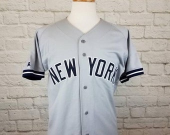 7088a67b0 New Year SALE 15% Off RARE Vintage 1990's Original Authentic MLB New York  Yankees Sewn Baseball Jersey By Russell Athletic.