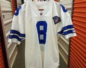 95ac302d8ef New Year SALE 15% Off RARE Vintage 90's Original NFL Dallas Cowboys Troy  Aikman 75th Anniversary Football Jersey By Wilson. Men's Size Xl (S