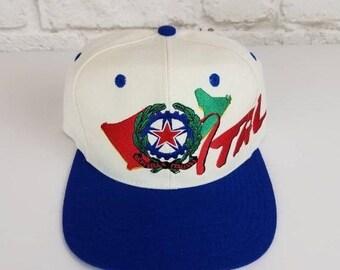 f78bfafd83db2d New Year SALE 15% Off Vintage 1994 Original World Cup USA Italia Italy  Snapback Hat.