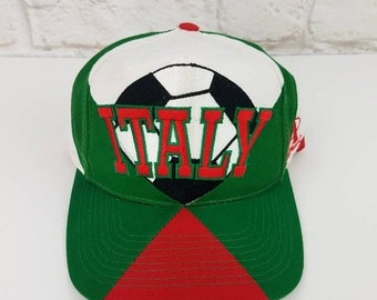 c29564d011393b New Year SALE 15% Off Vintage 1994 World Cup Soccer Italy Snapback Hat By  Logo Athletic.