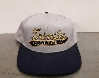 New Year SALE 15% Off Vintage 90 s Original Hartford Trinity College  University Snapback hat. ff59581d6bdf