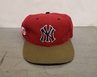 New Year SALE 15% Off RARE Vintage 90 s Original MLB New York Yankees Blockhead  Snapback Hat By American Needle. 785e7217c80d