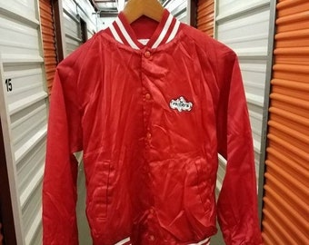 86eb2052632f New Year SALE 15% Off Vintage 80 s Original TGIF Friday s Satin Jacket.  Adult Size Small.