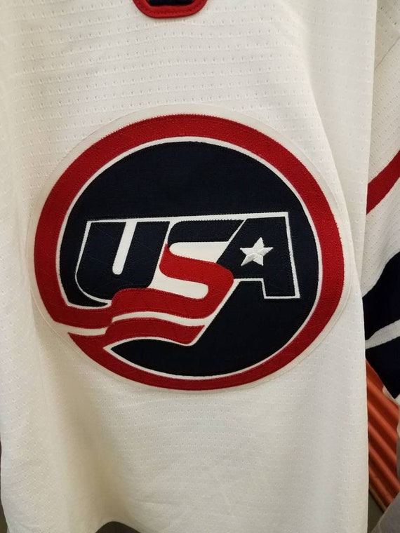 27bd73d2c17ad New Year SALE 15% Off Vintage 90's Team USA Brian Leetch Sewn Hockey Jersey  By Nike. Men's Size 44 (Small).