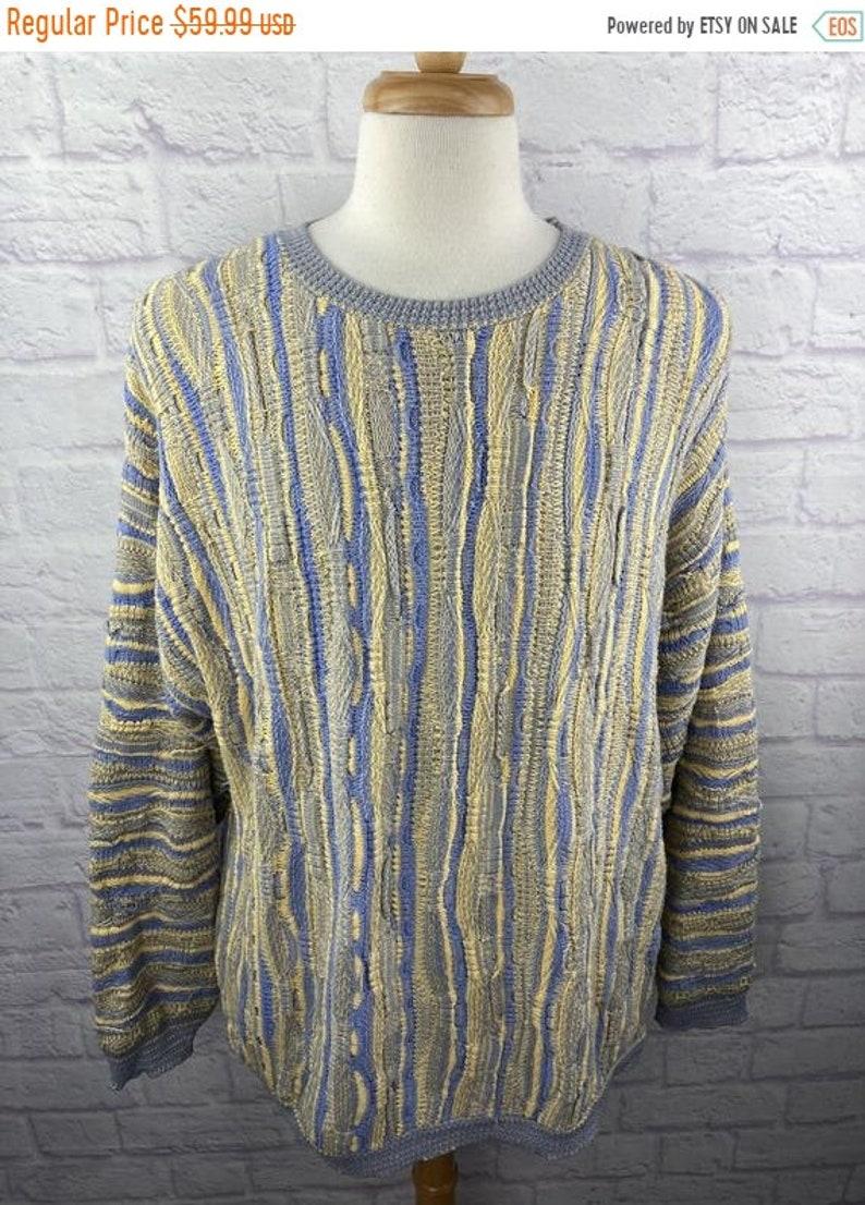 New Year SALE 15/% Off Vintage 1990\u2019s LaVane New York Textured Sweater Men\u2019s Size XL.