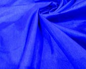 Dupion Silk, Solid Blue Color Dupioni Silk Fabric by yard, Plain silk, dupioni silk by yard,Polysilk