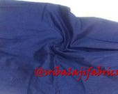 Dupion Silk, Solid Nevy Blue Color Dupioni Silk Fabric by yard, Plain silk, dupioni silk by yard,Polysilk