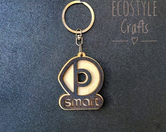 Smart Car Key Chain with logo Laser Cut Wooden Keychain Cool keychain For  women Mothers Day gift Car charm key ring Unique keychain for her 7a52205643