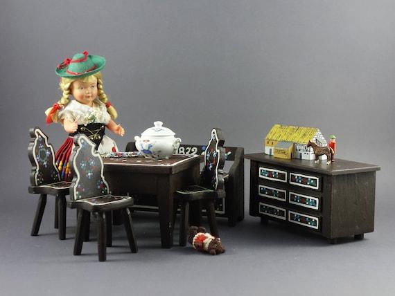 A1.6 1//12th escala Corsé de casa de muñecas en soporte y costura Set